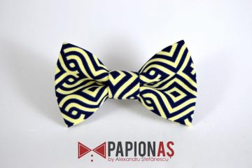 Papion Tribal yellow & navy blue