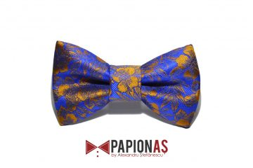 papion gold flowers on blue